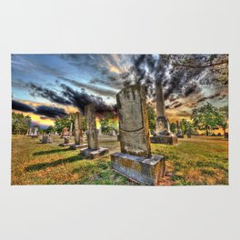 Tombstones at Twilight Rug