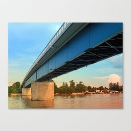 Bridge across the river Danube | architectural photography Canvas Print