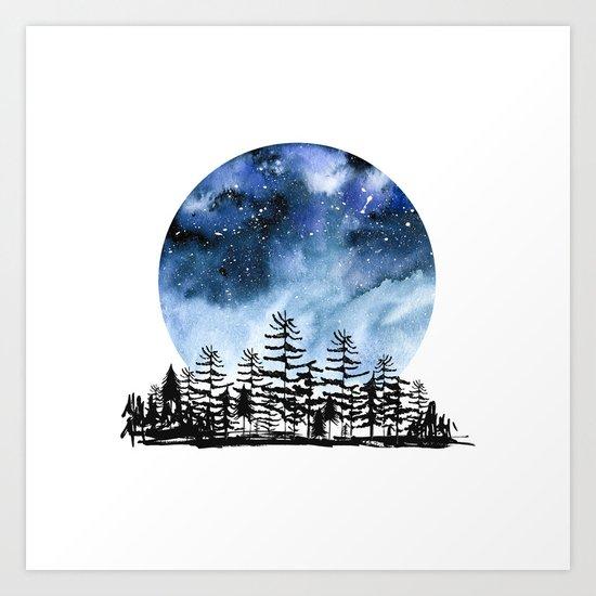Frozen Sky Art Print