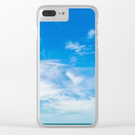 The Great Blue Sky Clear iPhone Case