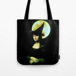 Mona Lisa Witchy Woman Tote Bag