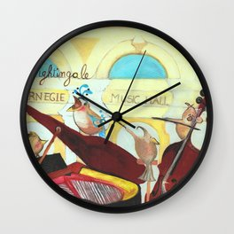 N for Nightingale - Alphabet City Wall Clock