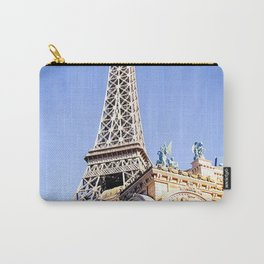 Eiffel tower at Las Vegas, USA with blue sky Carry-All Pouch
