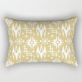 Mid Century Modern Atomic Space Age Pattern Gold 2 Rectangular Pillow