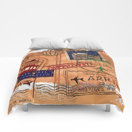 Entry Approved - Passport Stamps Comforters