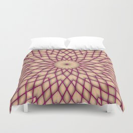 Purple Fishnet Mandala Pattern Duvet Cover