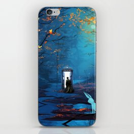 Tardis Lost In The Forest iPhone Skin