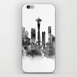 Seattle Black and White iPhone Skin