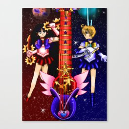 Fusion Sailor Moon Guitar #29 - Sailor Mars & Sailor Uranus Canvas Print