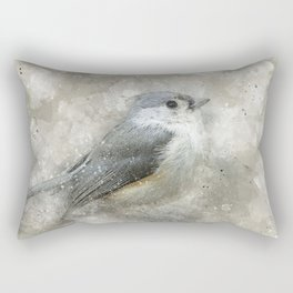 Tufted Titmouse Bird Rectangular Pillow