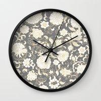 boho Wall Clocks featuring boho paisley by Ariadne