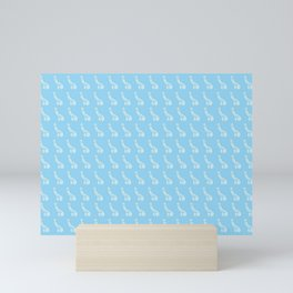 Pastel Blue Peens, Penis Repeat Mini Art Print