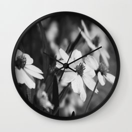 Gaggle of flowers too Wall Clock