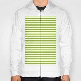 Apple Green & White Maritime Small Stripes- Mix & Match with Simplicity of Life Hoody