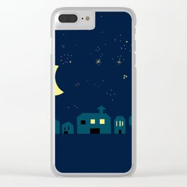 silent, starry night Clear iPhone Case