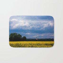Concept nature : The yellow field Bath Mat