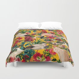 FLORAL AND BIRDS XVIII Duvet Cover
