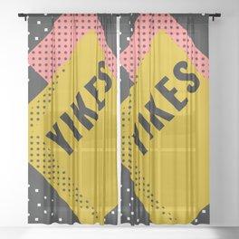 Memphis Yikes Sheer Curtain