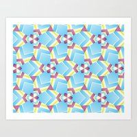 triangle kaleidoscope pattern Art Print