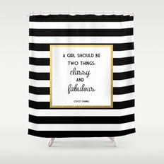typography shower curtains | society6