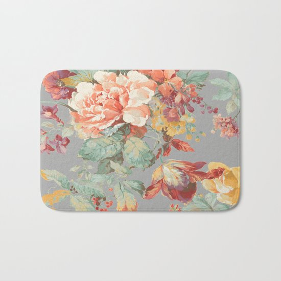 fall garden Bath Mat