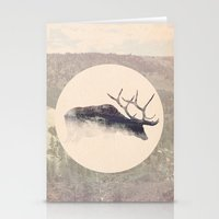 elk Stationery Cards featuring Elk by hipepper