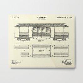 Railway Car-1892 Metal Print