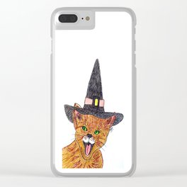 The wizard cat Clear iPhone Case