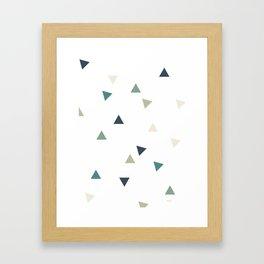 Triangles Colour Study Framed Art Print