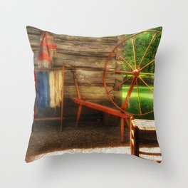 Yarnwork at the Mabry Mill Throw Pillow