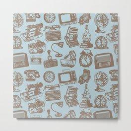 blue vintage pattern Metal Print
