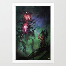Summoning Black magic Art Print