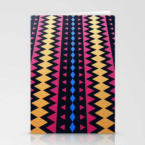 Aztec Pattern with Textured Appearance Stationery Cards