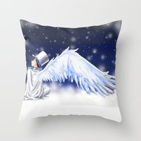 conan Throw Pillows featuring Detective Conan by Black Wing