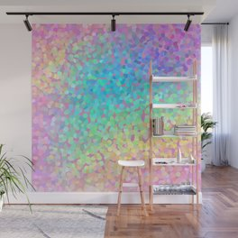 Pastel Rainbow Pointillized Design Wall Mural