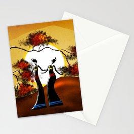 Africa retro vintage style design illustration Stationery Cards