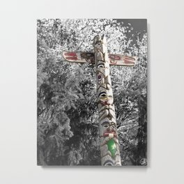 Totem Pole, Oregon, tribal art Metal Print