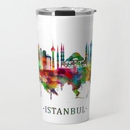 Istanbul Turkey Skyline Travel Mug