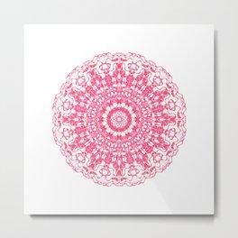 Mandala 12 / 2 eden spirit ruby red Metal Print