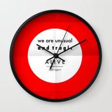 eggers - we are unusual & tragic & alive Wall Clock