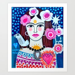 Beautiful Frida Art Print