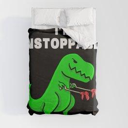 I am unstoppable   Dinosaur Tyrannosaurus Rex Duvet Cover