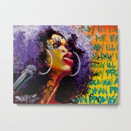 ERYKAH BADU---ARTWORK Metal Print
