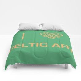 I heart Celtic Art Comforters