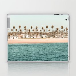 Vintage Newport Beach Print {1 of 4} | Photography Ocean Palm Trees Teal Tropical Summer Sky Laptop & iPad Skin