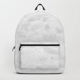Snow Field // Winter Snow Landscape Photo Close Up Black and White Texture Snowflake Vibes Backpack