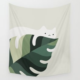 Cat and Plant 12C Wall Tapestry