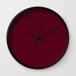 Dark Scarlet Red Wall Clock