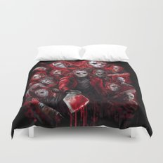 Jason Voorhees Friday the 13th Many faces of  Duvet Cover