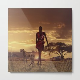The rise of the Maasai Metal Print